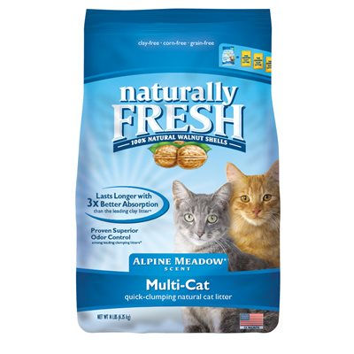 Naturally Fresh Walnut-Based Alpine Meadow Scent Multi-Cat Quick-Clumping Cat Litter, 26-lb bag