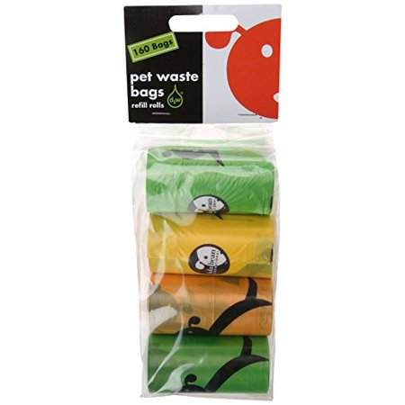 Lola Bean Pet Waste Bags Unscented Refill Rolls, 8-count