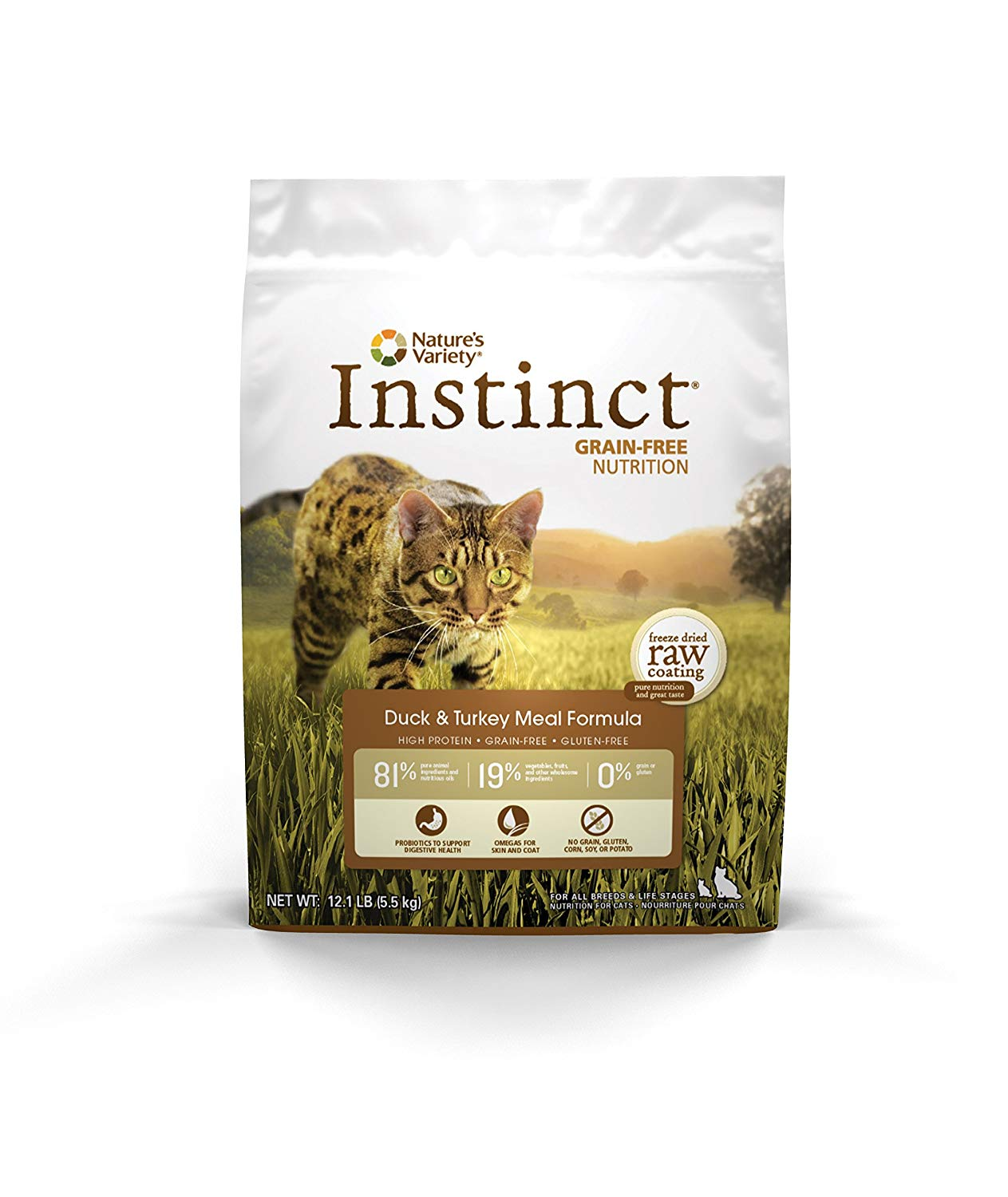 Instinct by Nature's Variety Grain-Free Duck & Turkey Meal Formula Dry Cat Food, 5.5-lb