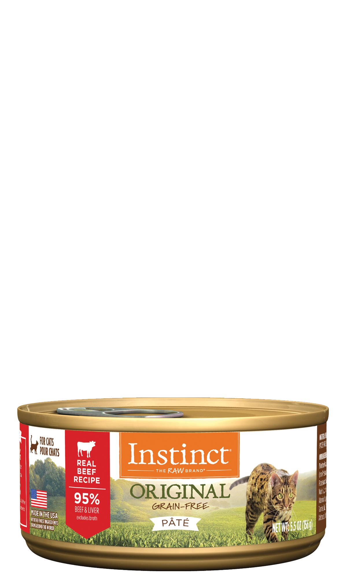 Instinct by Nature's Variety Grain-Free Beef Formula Wet Cat Food , 5.5-oz, case of 12