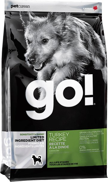 Petcurean Dog Go! Sensitivity + Shine Limited Ingredient Diet Turkey Recipe Dry Dog Food