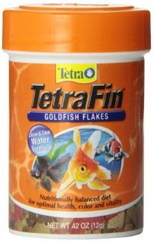 TetraFin Goldfish Flakes Fish Food, .42-oz