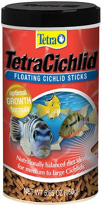 Tetra Cichlid Floating Cichlid Sticks Fish Food, 5.65-oz jar