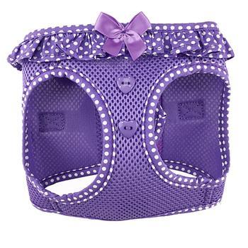 Doggie Design American River Choke-Free Dog Harness Polka Dot Collection, Paisley Purple, X-Small