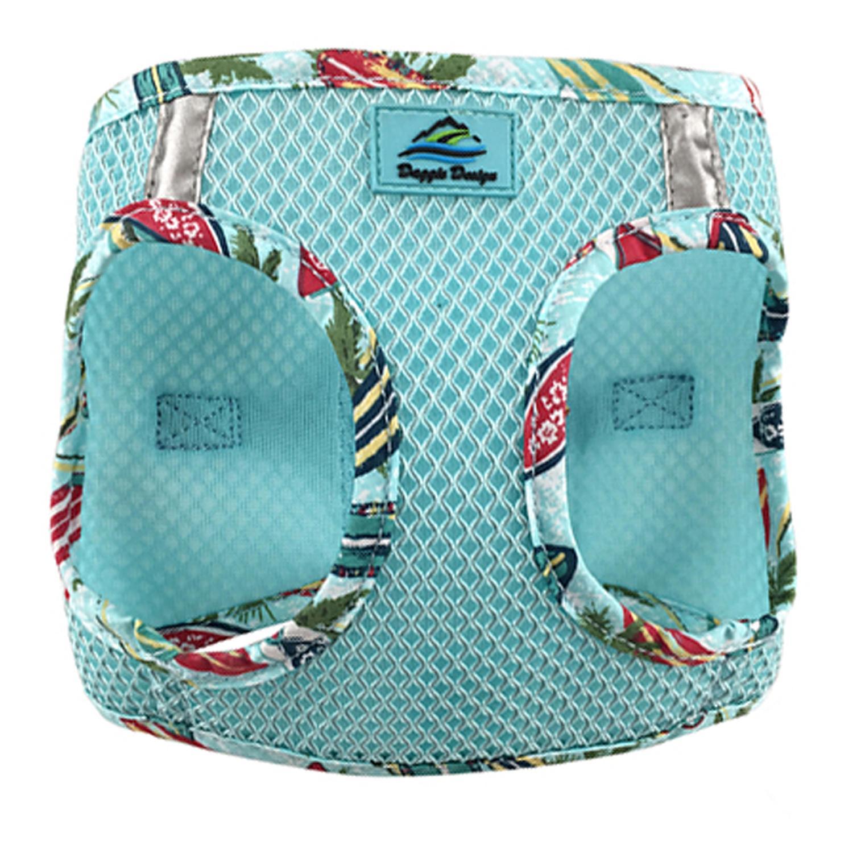 Doggie Design American River Choke-Free Dog Harness Hawaiian Trim, Aruba Blue, XX-Small