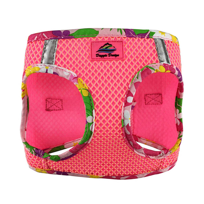 Doggie Design American River Choke-Free Dog Harness Hawaiian Trim, Candy Pink, XX-Small