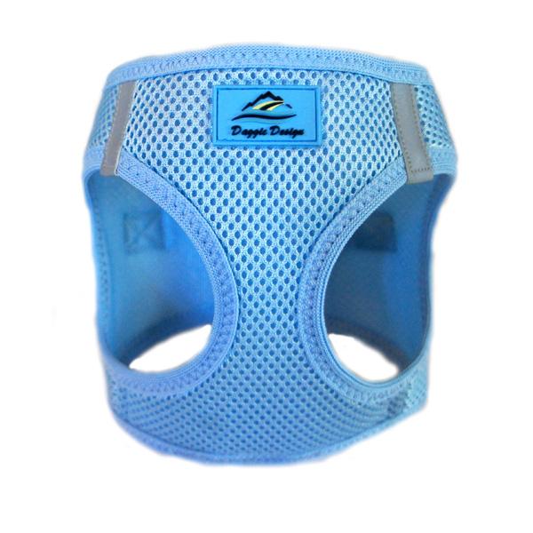 Doggie Design American River Choke-Free Dog Harness Solid, Light Blue, 3X-Large