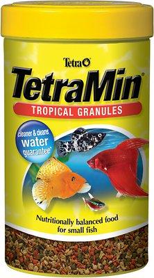 TetraMin Tropical Granules Fish Food, 1.20-oz jar