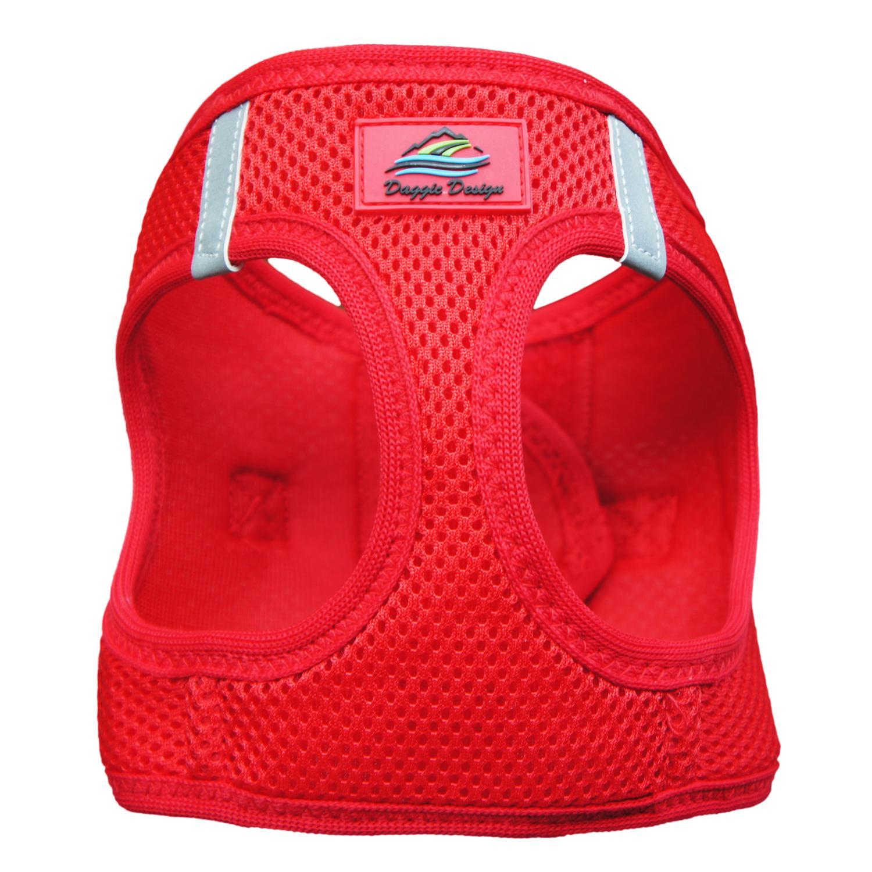 Doggie Design American River Choke-Free Dog Harness Solid, Red, XX-Small