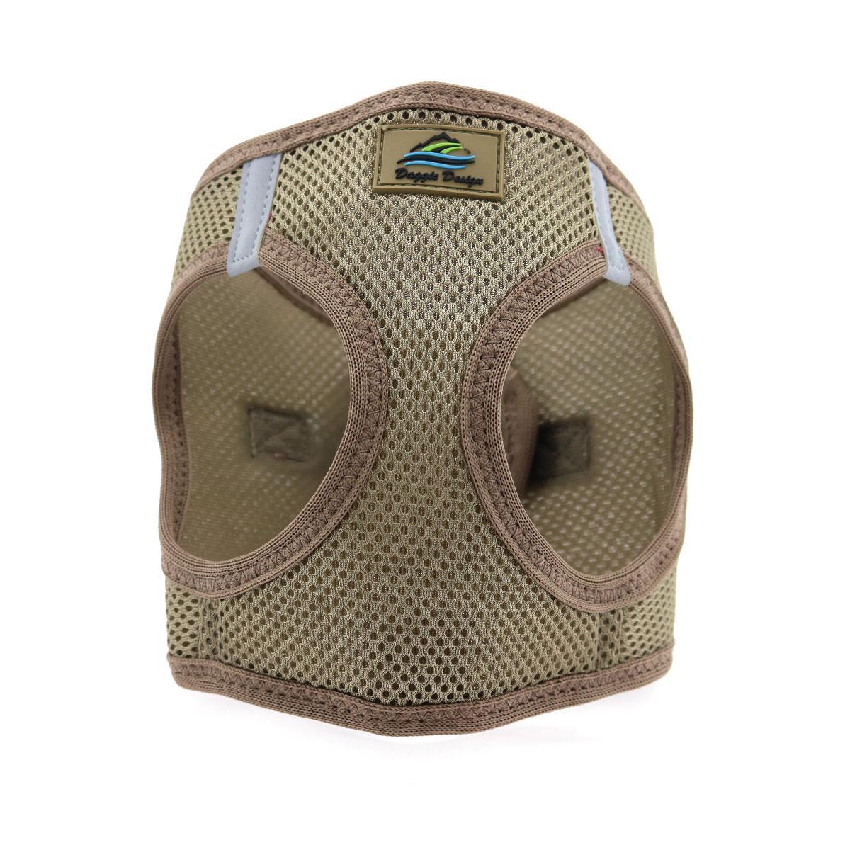 Doggie Design American River Choke-Free Dog Harness Solid, Fossil Brown, Medium
