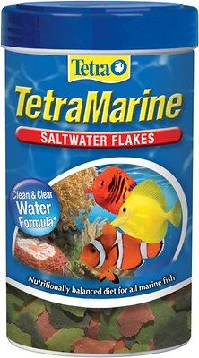 TetraMarine Saltwater Flakes Marine Fish Food, 1.84-oz jar