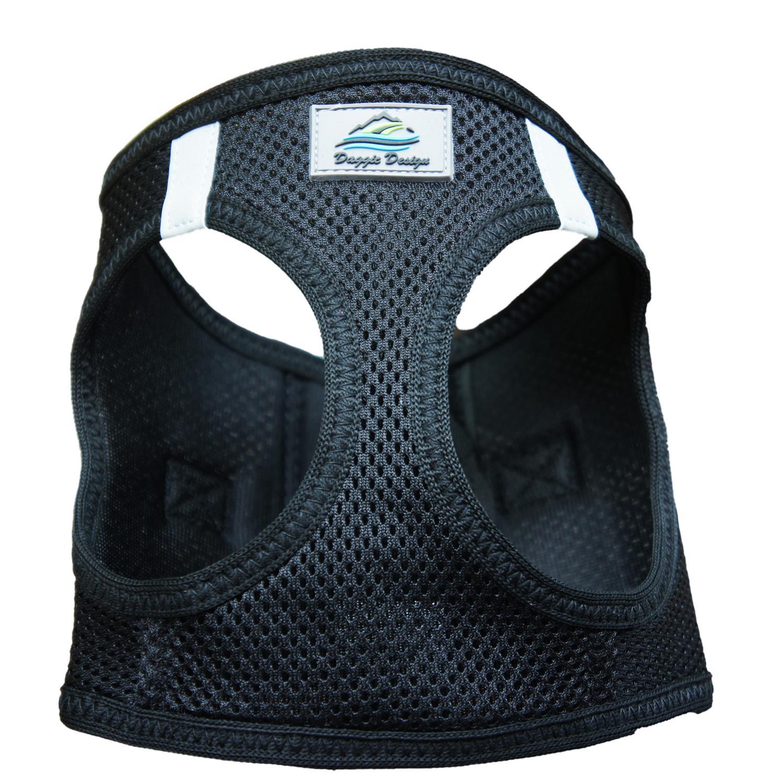 Doggie Design American River Choke-Free Dog Harness Solid, Black, 3X-Large