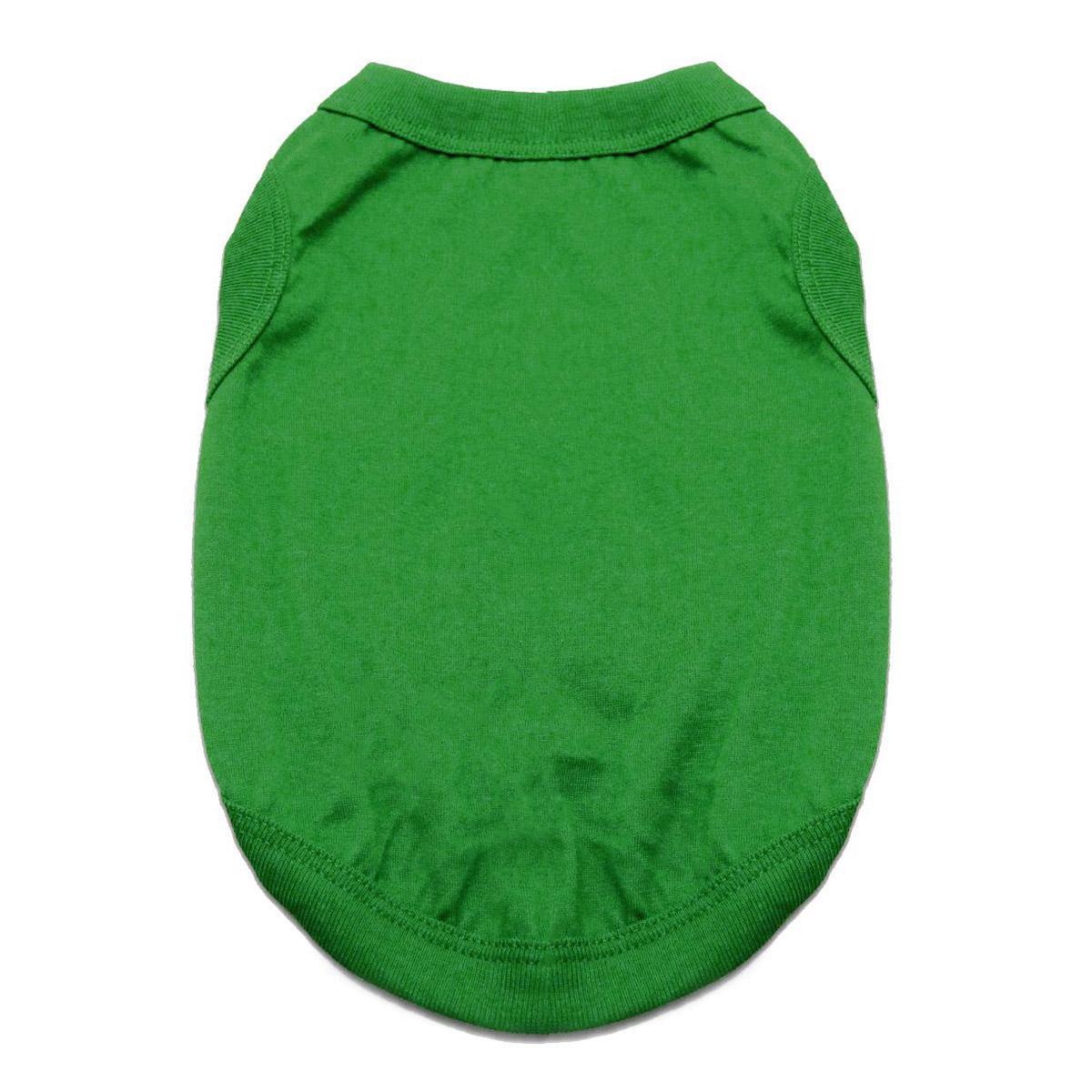 Doggie Design 100% Cotton Dog Tank, Emerald Green, XX-Large