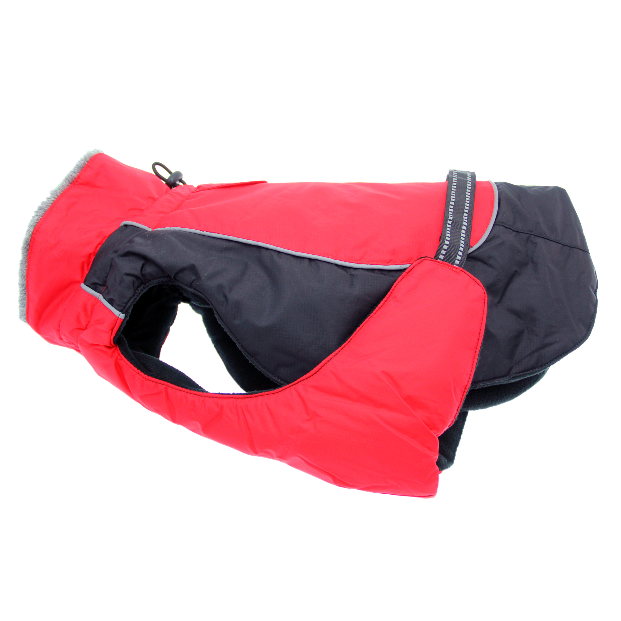 Doggie Design Alpine All-Weather Coat for Dogs, Red & Black, X-Small