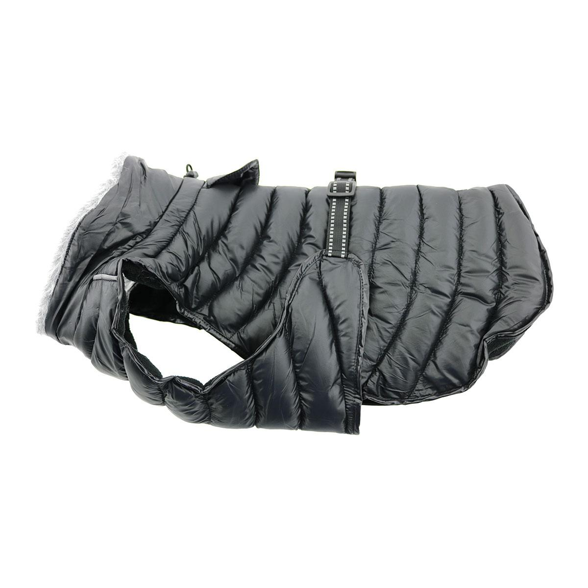 Doggie Design Alpine Extreme Weather Puffer Coat for Dogs, Black, X-Small