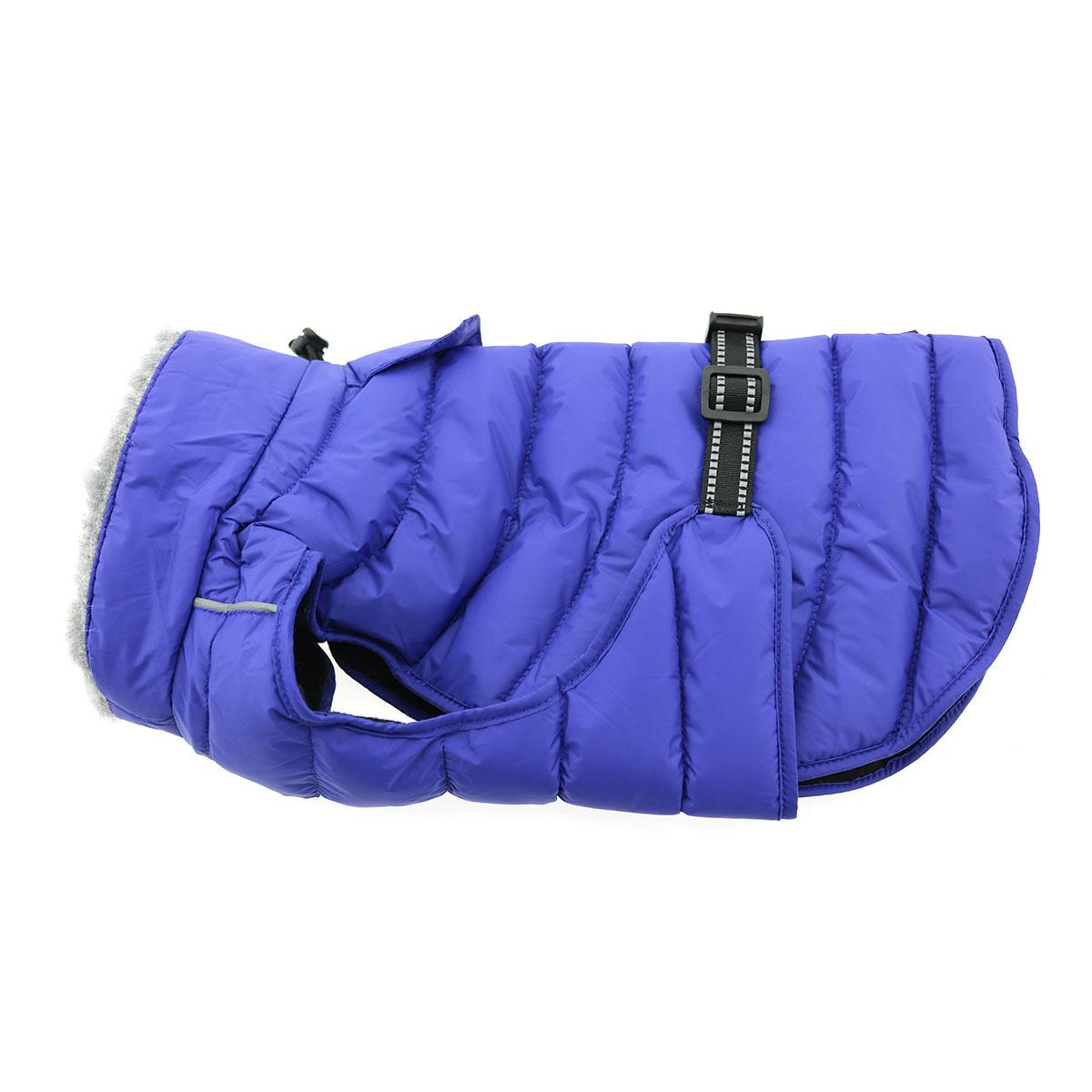Doggie Design Alpine Extreme Weather Puffer Coat for Dogs, Blue, Small