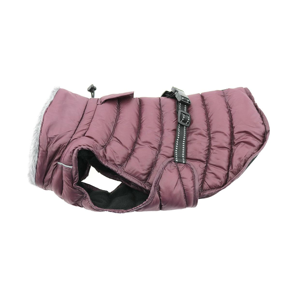 Doggie Design Alpine Extreme Weather Puffer Coat for Dogs, Burgundy, 5X-Large