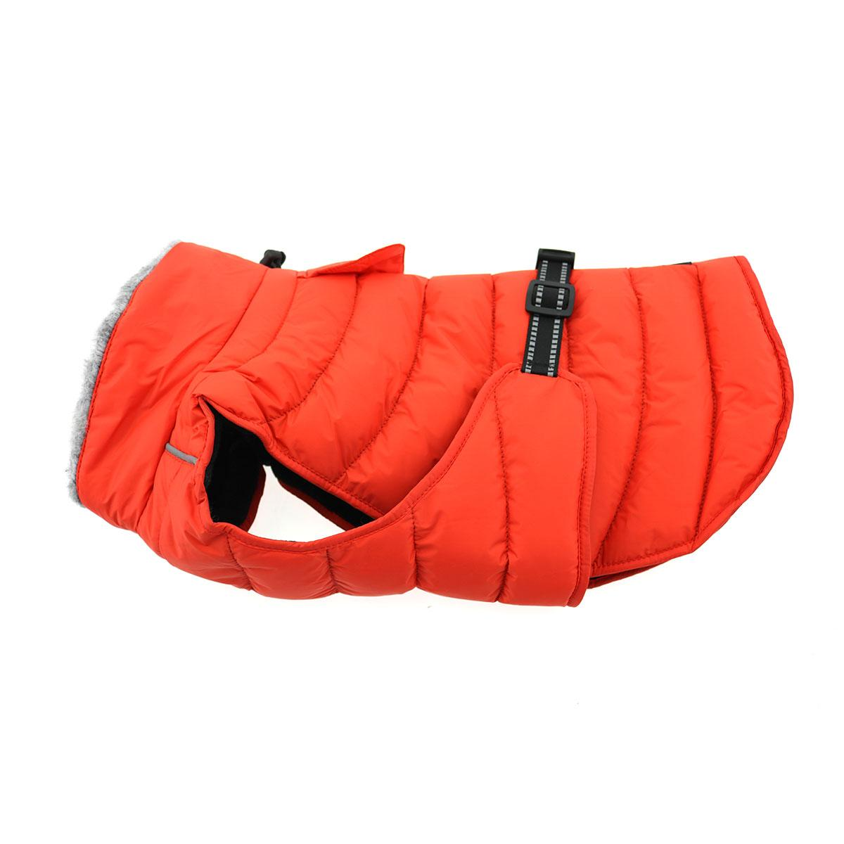 Doggie Design Alpine Extreme Weather Puffer Coat for Dogs, Orange, X-Small