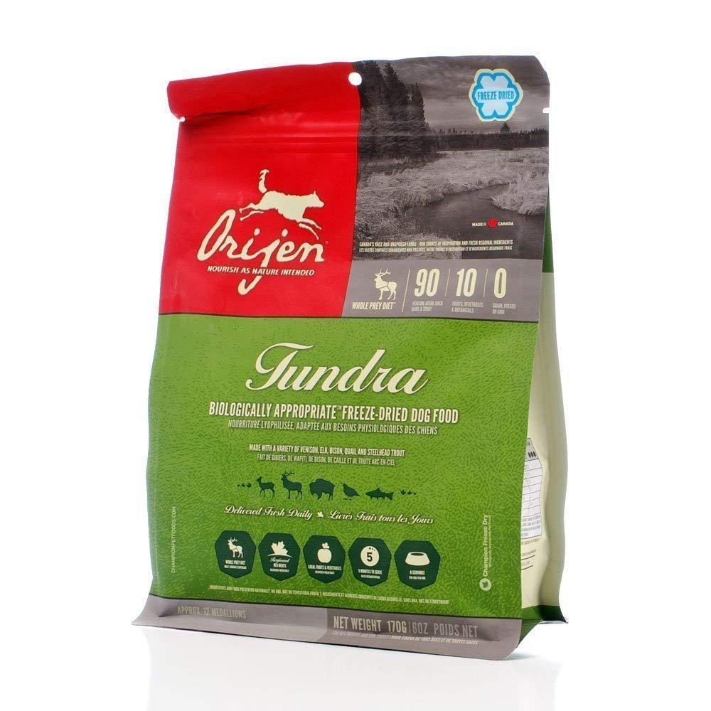ORIJEN Grain Free Tundra Adult Freeze Dried Dog Food, 16-oz