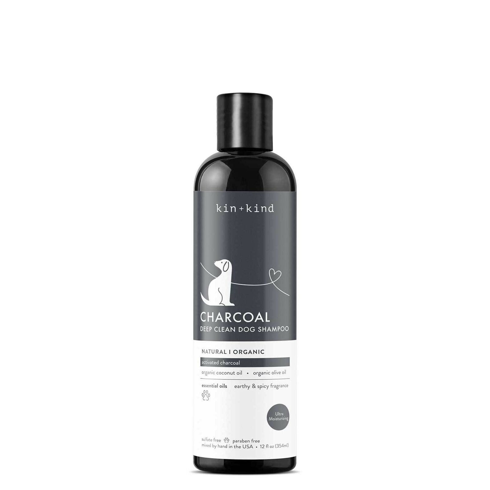 Kin+Kind Charcoal Deep Clean Dog Shampoo, 12-oz