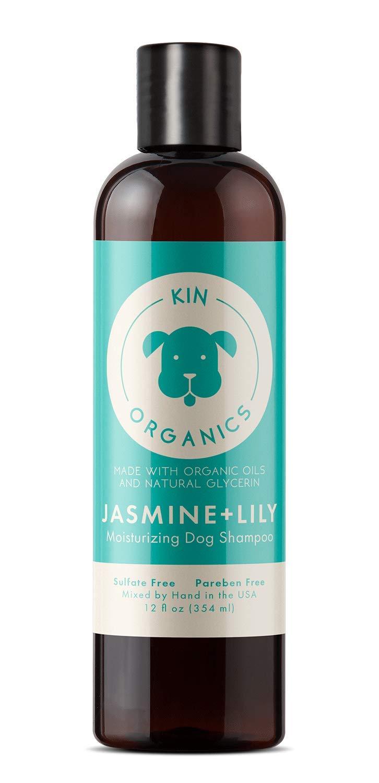 Kin+Kind Kin Organics Jasmine + Lily Moisturizing Dog Shampoo, 12-oz