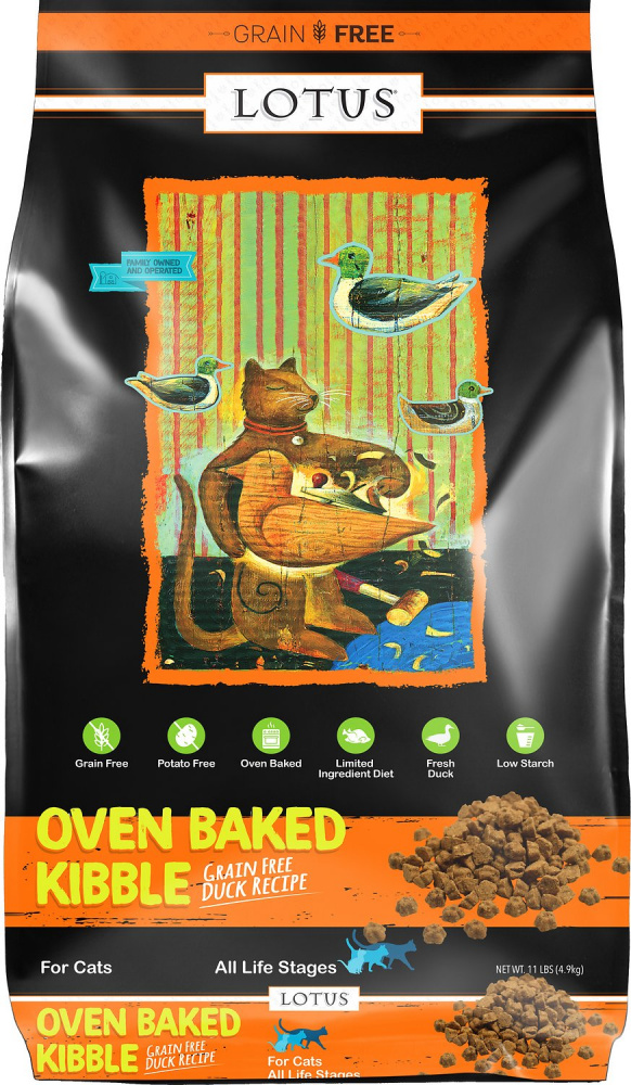 Lotus Oven-Baked Duck Recipe Grain-Free Dry Cat Food