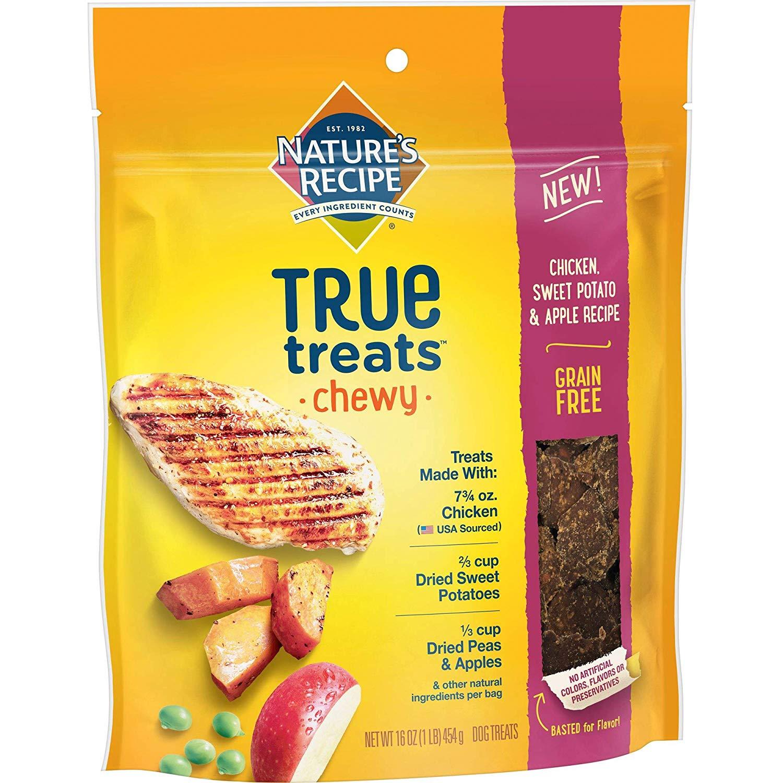 Nature's Recipe True Treats Chewy Chicken, Sweet Potato, and Apple Recipe Grain-Free Dog Treats