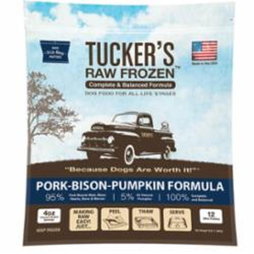 Tucker's Raw Frozen Grain-Free Pork, Bison & Pumpkin Formula Raw Frozen Dog Food, 3-lb