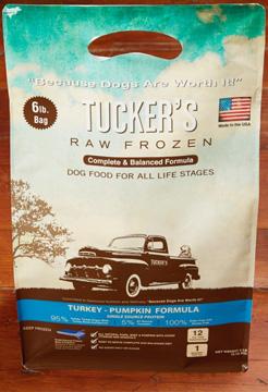 Tucker's Raw Frozen Grain-Free Turkey & Pumpkin Formula Raw Frozen Dog Food, 3-lb