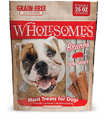 SPORTMiX Wholesomes Bruno's  Pork Jerky Sticks Dog Treat, 25-oz