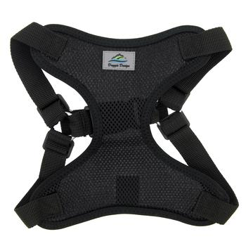 Doggie Design Wrap & Snap Choke-Free Dog Harness, Black, Small