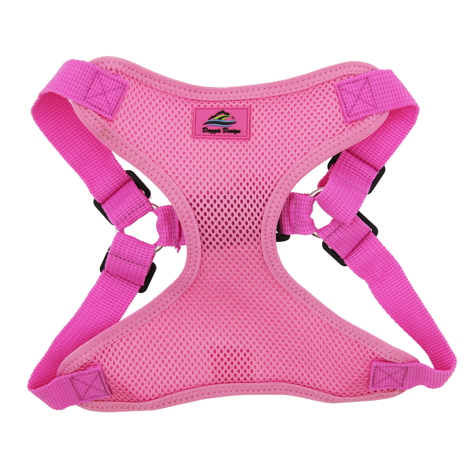 Doggie Design Wrap & Snap Choke-Free Dog Harness, Candy Pink, X-Small