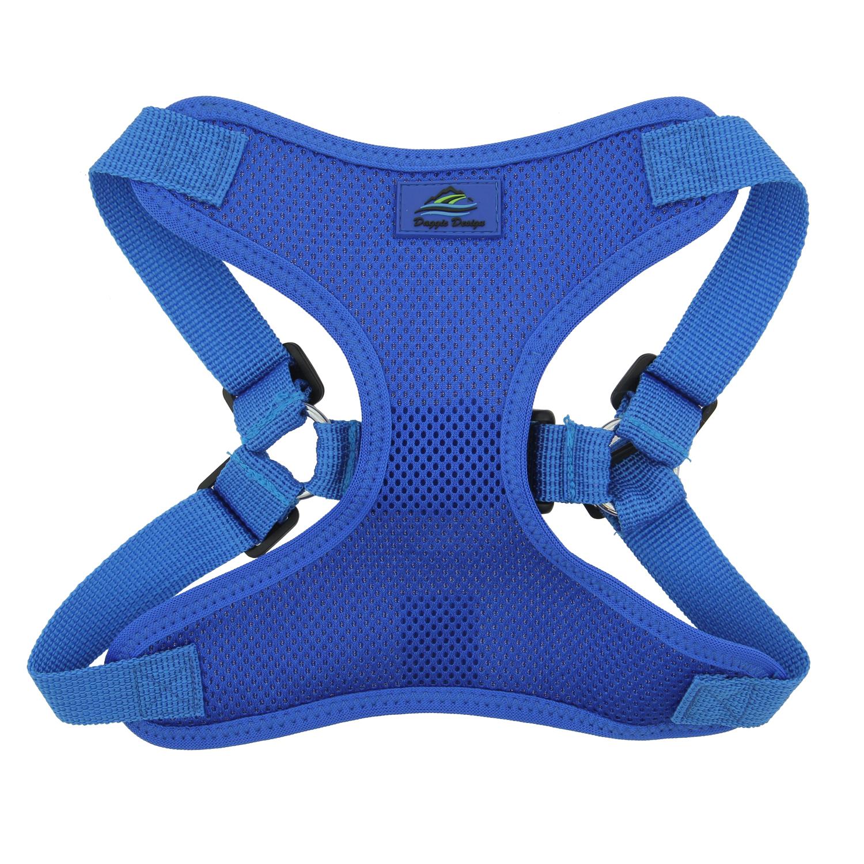 Doggie Design Wrap & Snap Choke-Free Dog Harness, Cobalt Blue, X-Small