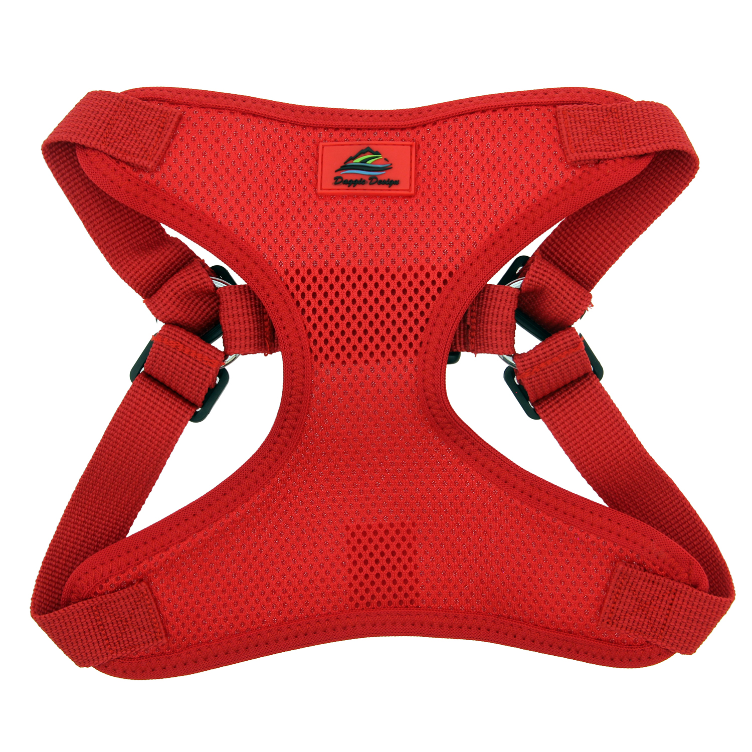 Doggie Design Wrap & Snap Choke-Free Dog Harness, Flame Red, Small