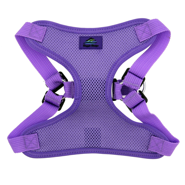 Doggie Design Wrap & Snap Choke-Free Dog Harness, Paisley Purple, Large