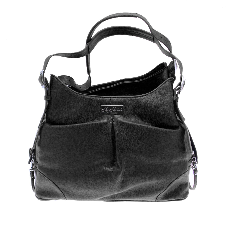 Doggie Design Mia Michele Dog Carry Bag, Sadie Black Faux Leather