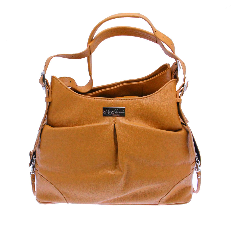 Doggie Design Mia Michele Dog Carry Bag, Zoie Caramel Macchiato Faux Leather