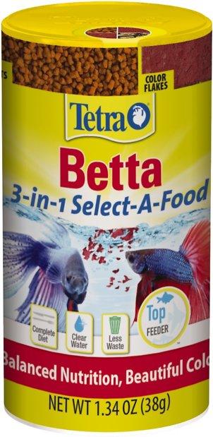 Tetra Betta 3-in-1 Select-A-Food Fish Food, 1.34-oz jar