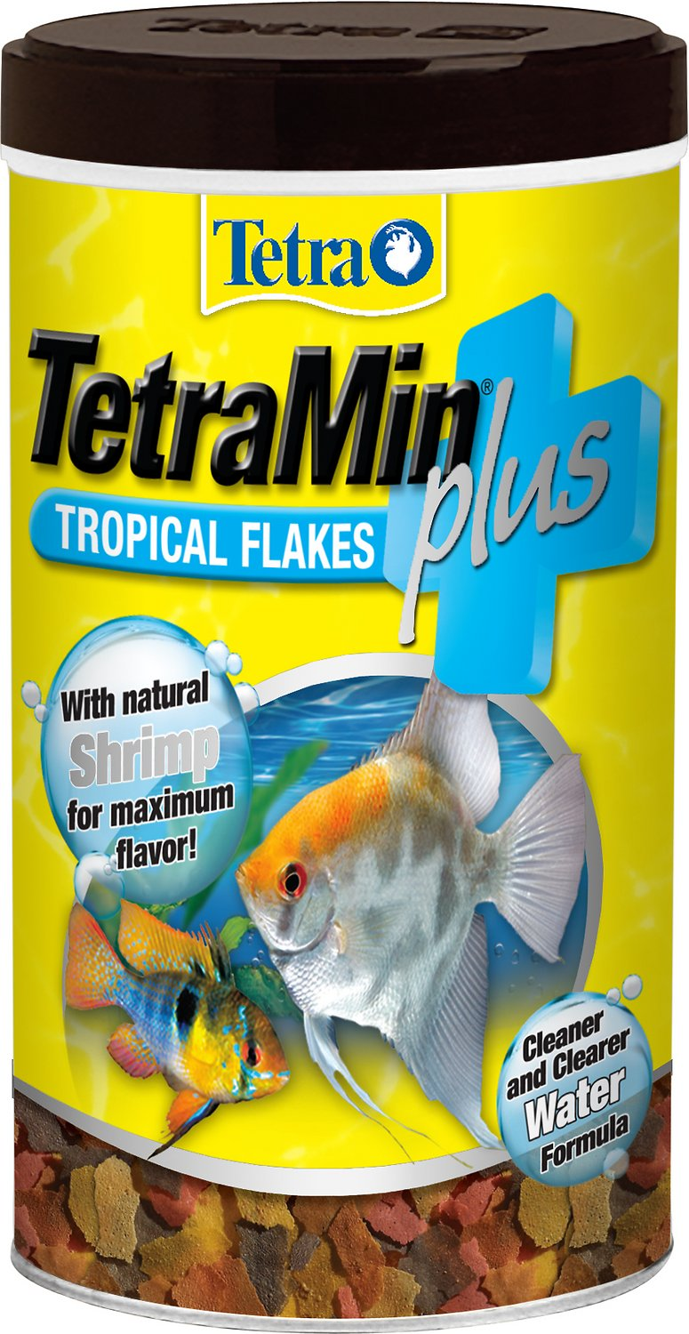 Tetra Min Plus Tropical Flakes Fish Food, 7.06-oz jar