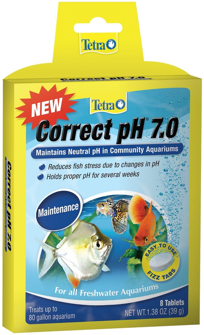 Tetra Correct pH 7.0 Freshwater Conditioner, 8-count