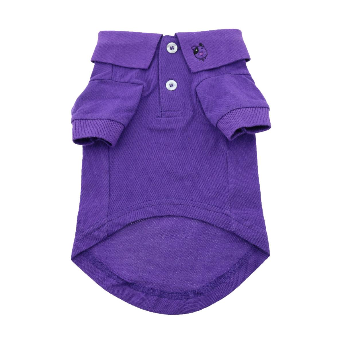 Doggie Design Polo Shirt for Dogs, Solid Ultra Violet, 3X-Large
