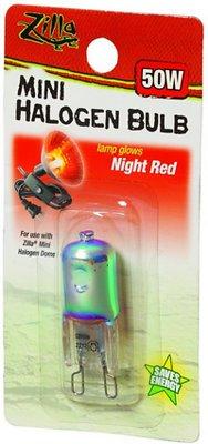 Zilla Mini Night Red Halogen Bulb for Reptile Terrariums, 50-watt