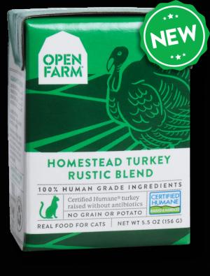 Open Farm Grain Free Homestead Turkey Recipe Rustic Blend Wet Cat Food, 5.5-oz, case of 12