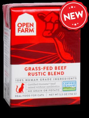 Open Farm Grain Free Grass Fed Beef Recipe Rustic Blend Wet Cat Food, 5.5-oz, case of 12