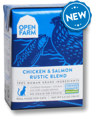 Open Farm Grain Free Chicken & Salmon Recipe Rustic Blend Wet Cat Food, 5.5-oz, case of 12 Size: 5.5-oz, case of 12