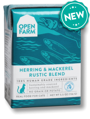 Open Farm Grain Free Herring & Mackerel Recipe Rustic Blend Wet Cat Food, 5.5-oz, case of 12 Size: 5.5-oz, case of 12