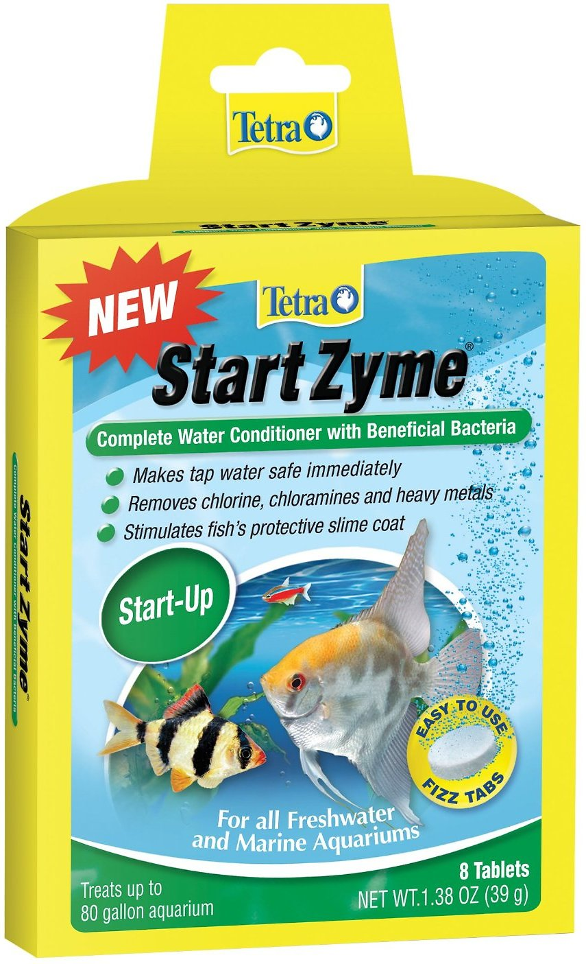Tetra StartZyme Beneficial Bacteria Complete Water Conditioner, 8-count