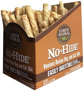Earth Animal No-Hide Venison Stix Chew Dog Treats, 90-count