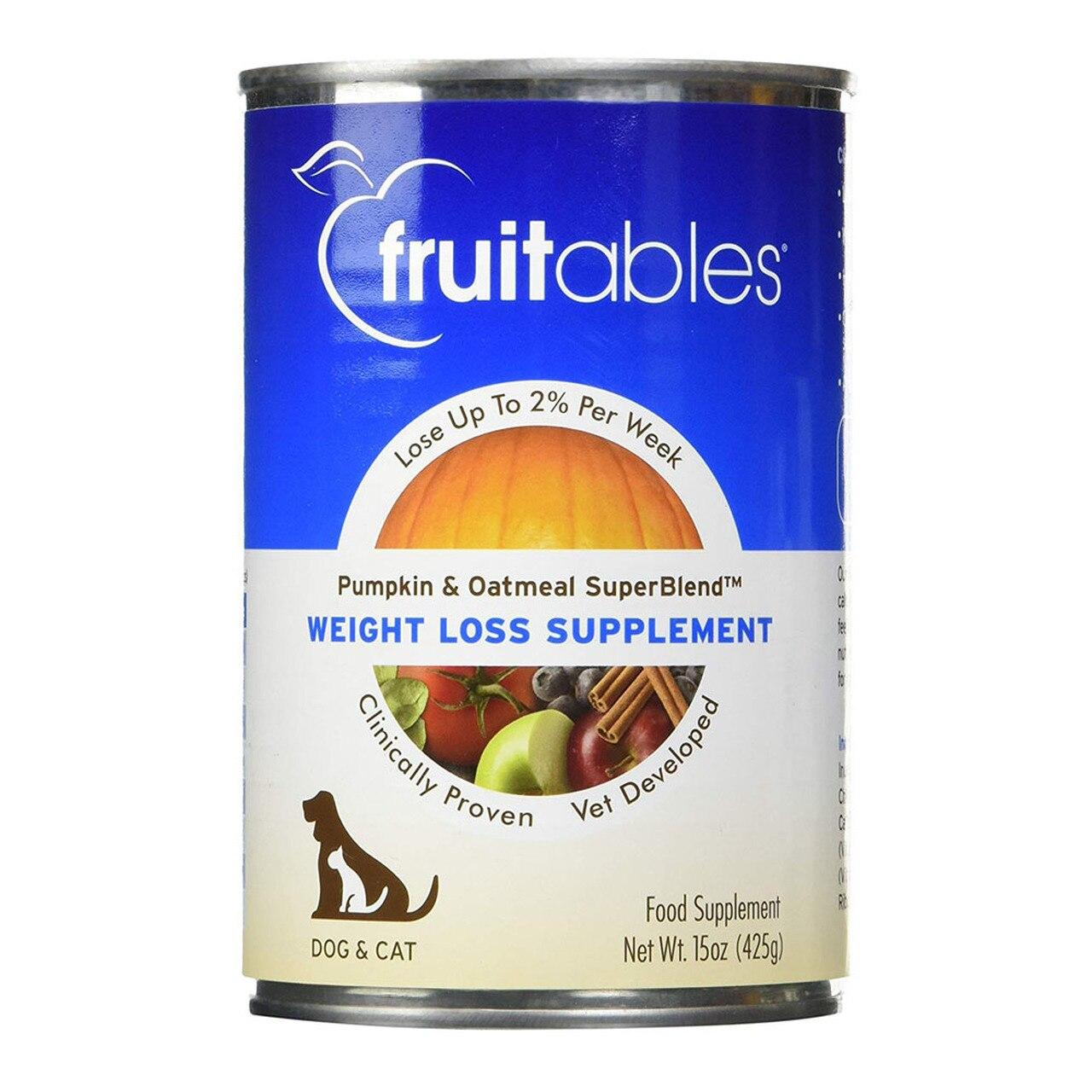 Fruitables Pumpkin SuperBlend Weight Loss Dog & Cat Supplement, 15-oz