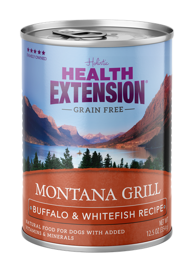 Health Extension Montana Grill Buffalo & Whitefish Recipe Wet Dog Food